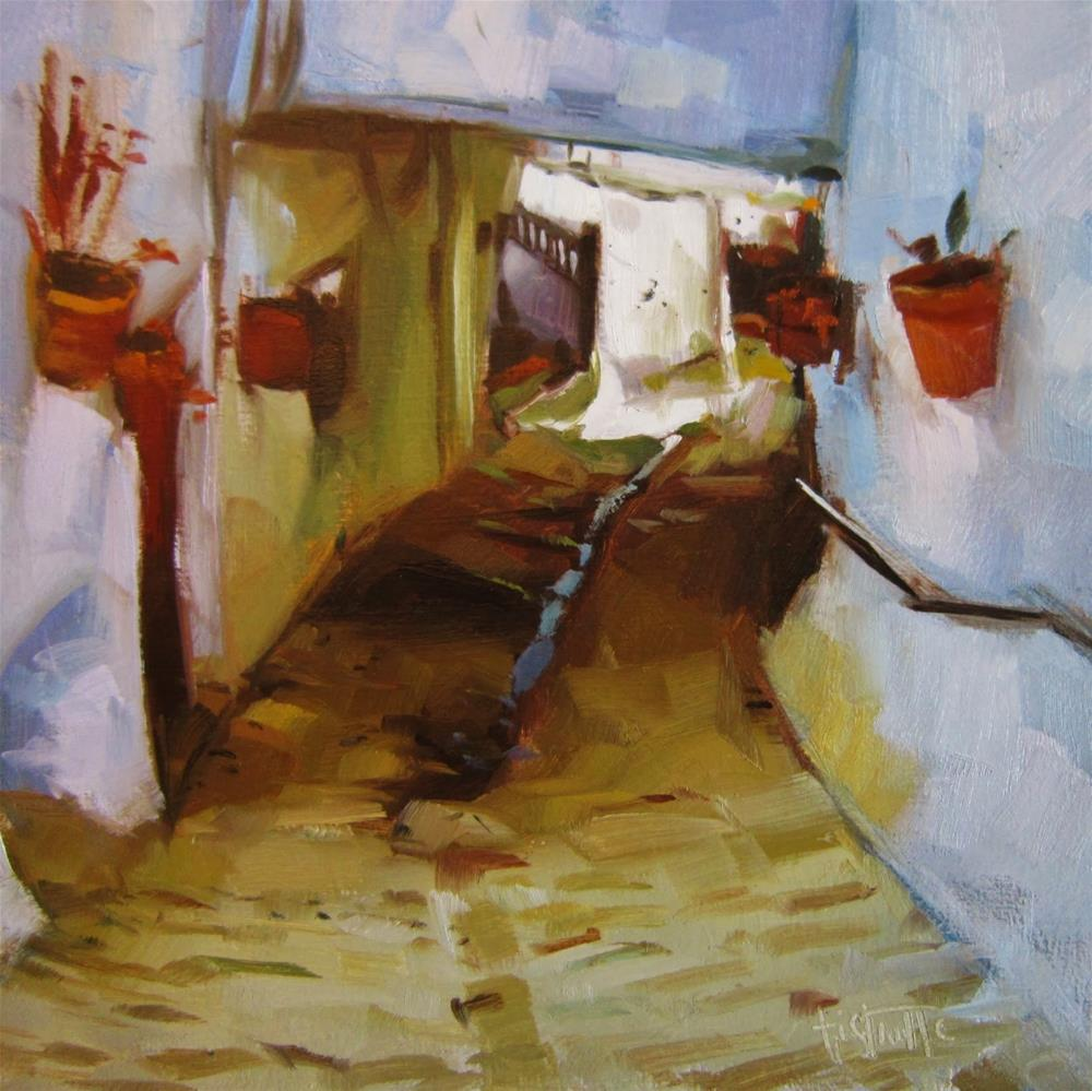 """""""Calle de Pitres"""" original fine art by Víctor Tristante"""