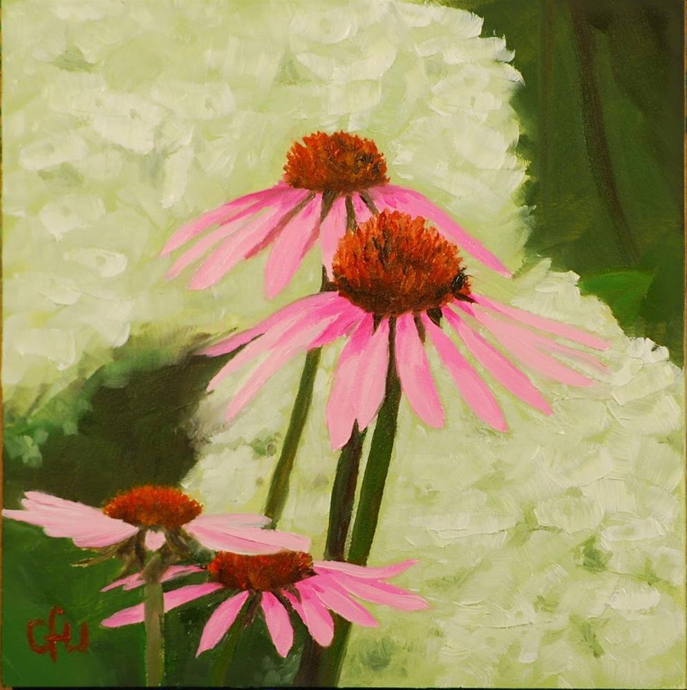"""Coneflowers"" original fine art by Gary Westlake"