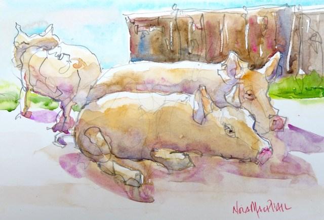 """""""wee wee wee"""" original fine art by Nora MacPhail"""