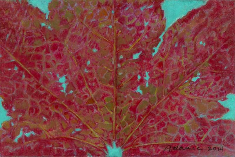 """Autumn Leaf #8: Turquoise Sky"" original fine art by Carol L Adamec"
