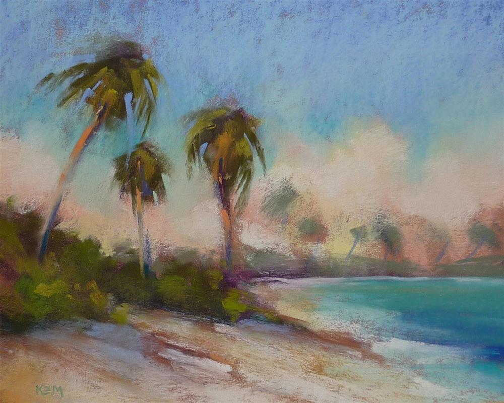 """Caribbean Beach 'Turquoise Sea'"" original fine art by Karen Margulis"