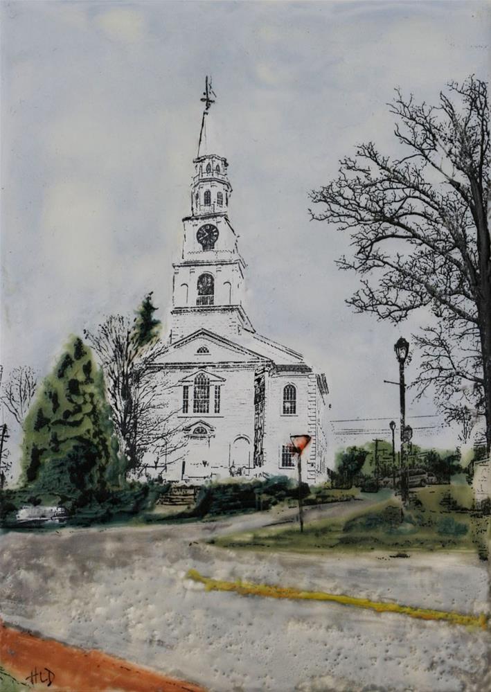 """At The Head of Main Street"" original fine art by Heather Douglas"
