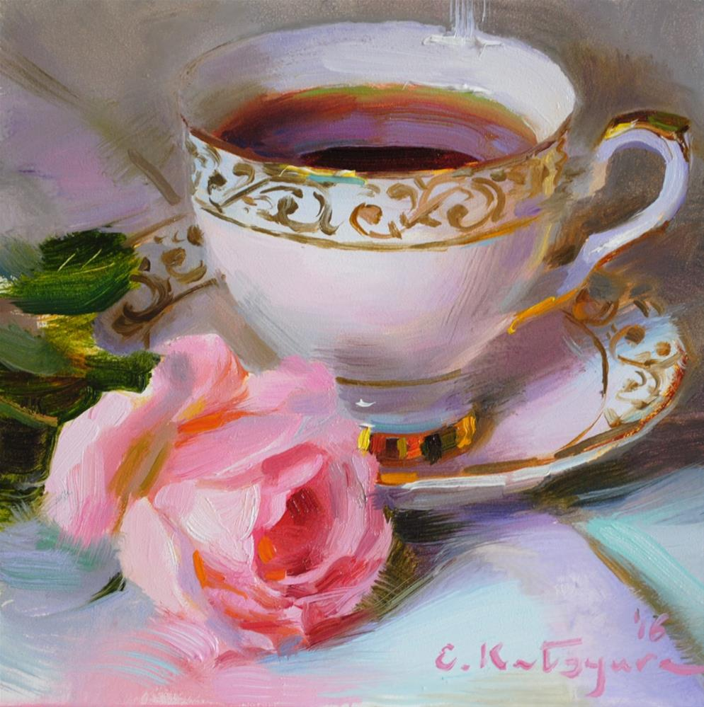 """Pink Rose Dream"" original fine art by Elena Katsyura"