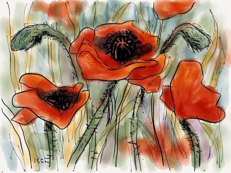 """Top 5 Posts of 2012....My Favorite iPad app...PAPER"" original fine art by Karen Margulis"
