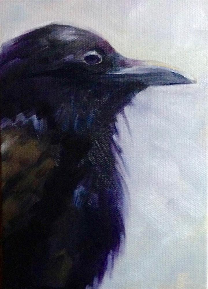 """""""Juvenile Raven"""" original fine art by Bobbie Cook"""