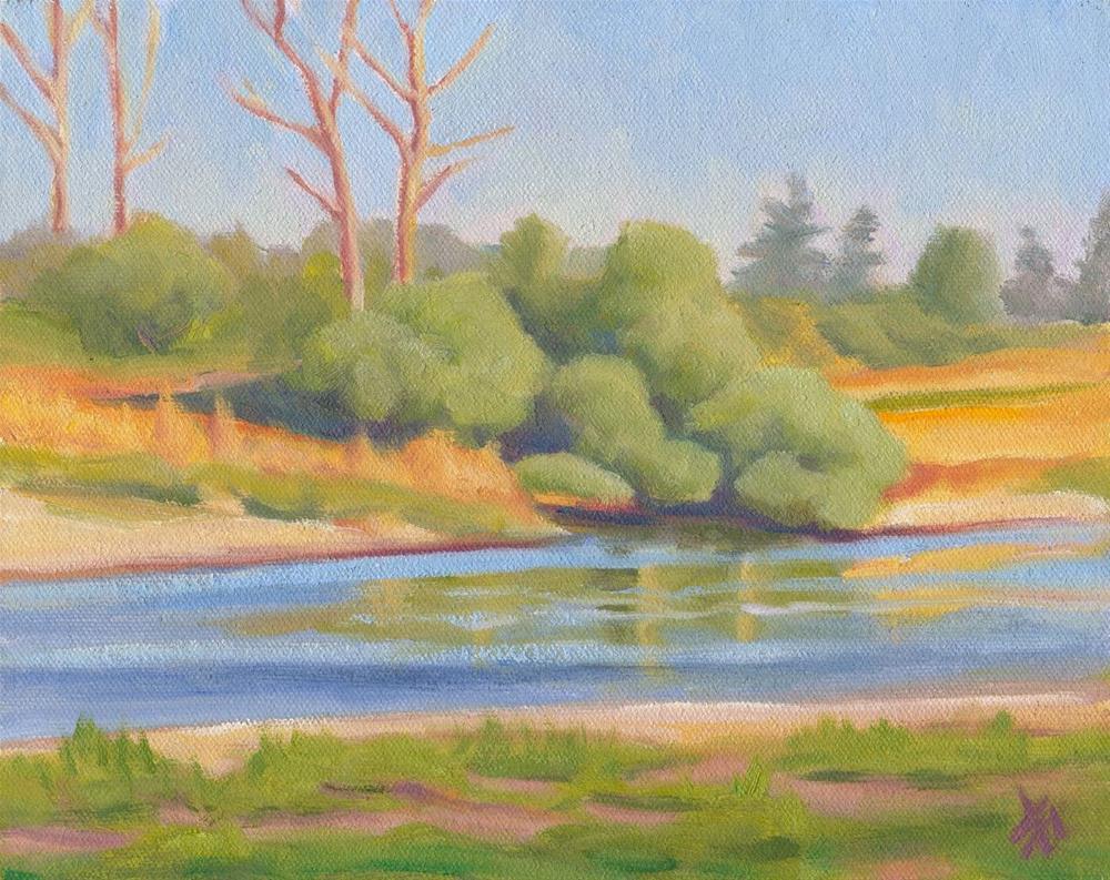"""Summer's End - So. Willamette Park"" original fine art by Mark Allison"
