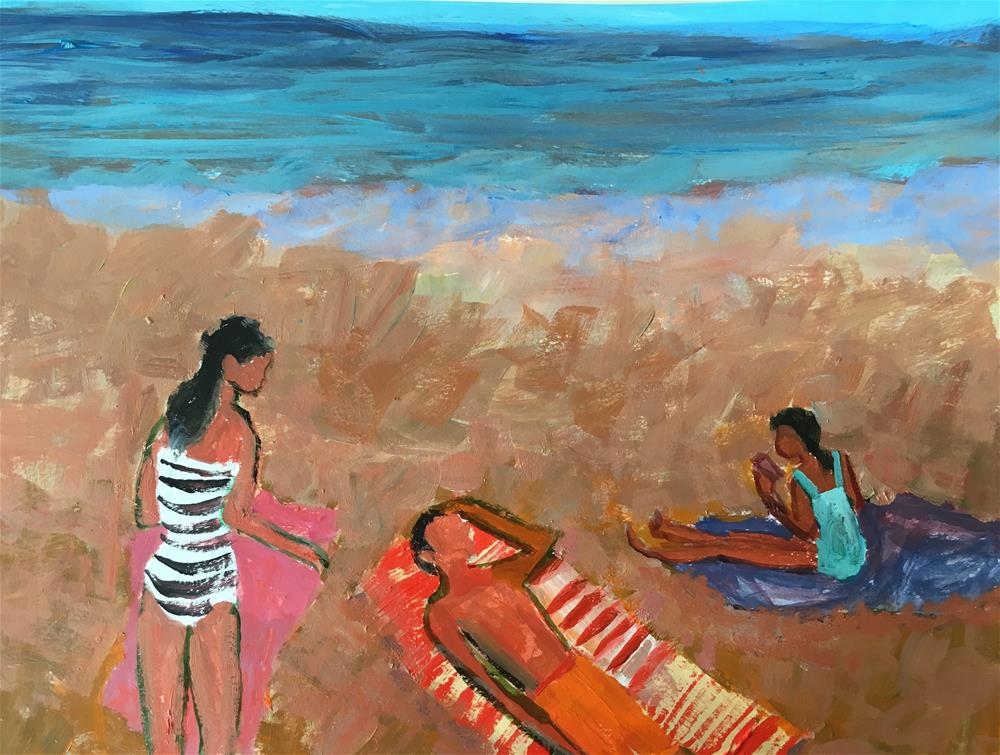 """Figurative Seascape "" original fine art by Christine Parker"