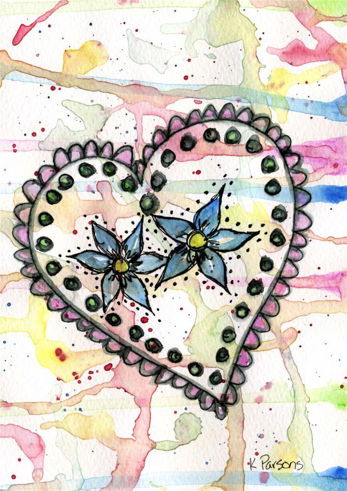 """Twins in the Heart"" original fine art by Kali Parsons"