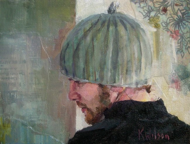 """Ribbed Hat"" original fine art by Katie Wilson"