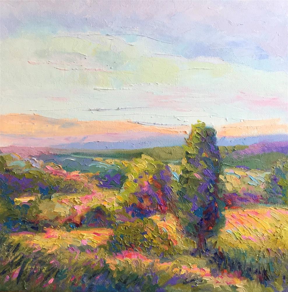 """Impasto Landscape Study 28"" original fine art by Charlotte Fitzgerald"
