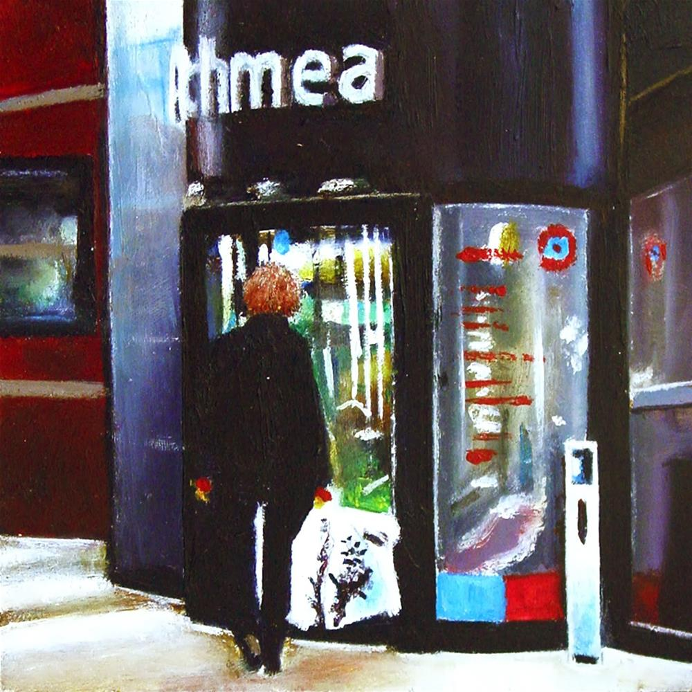 """Back To Work- Employee Returning To Work After Lunch Break"" original fine art by Gerard Boersma"