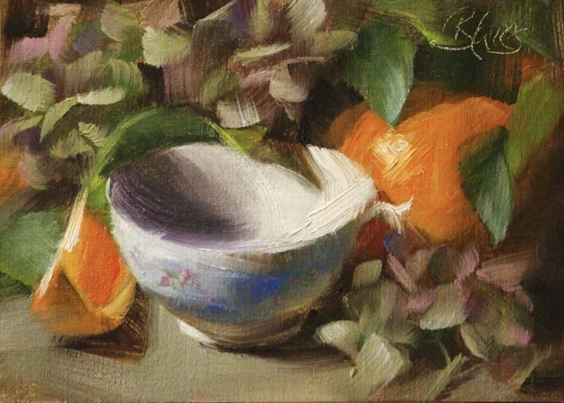 """""""Summer Tea"""" original fine art by Pamela Blaies"""
