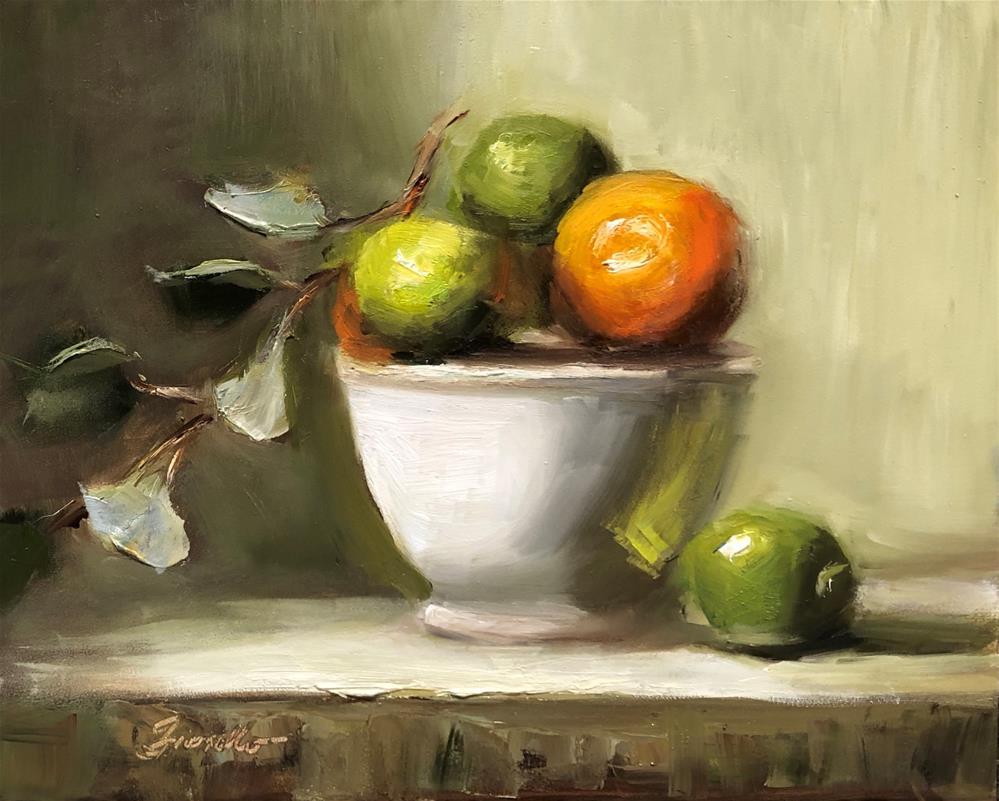 """Citrus Bowl"" original fine art by Pat Fiorello"