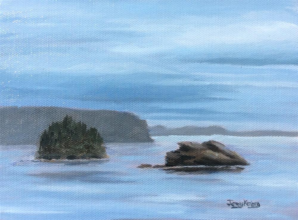 """Twin Islands on the Sound"" original fine art by Jenny Kinberg"