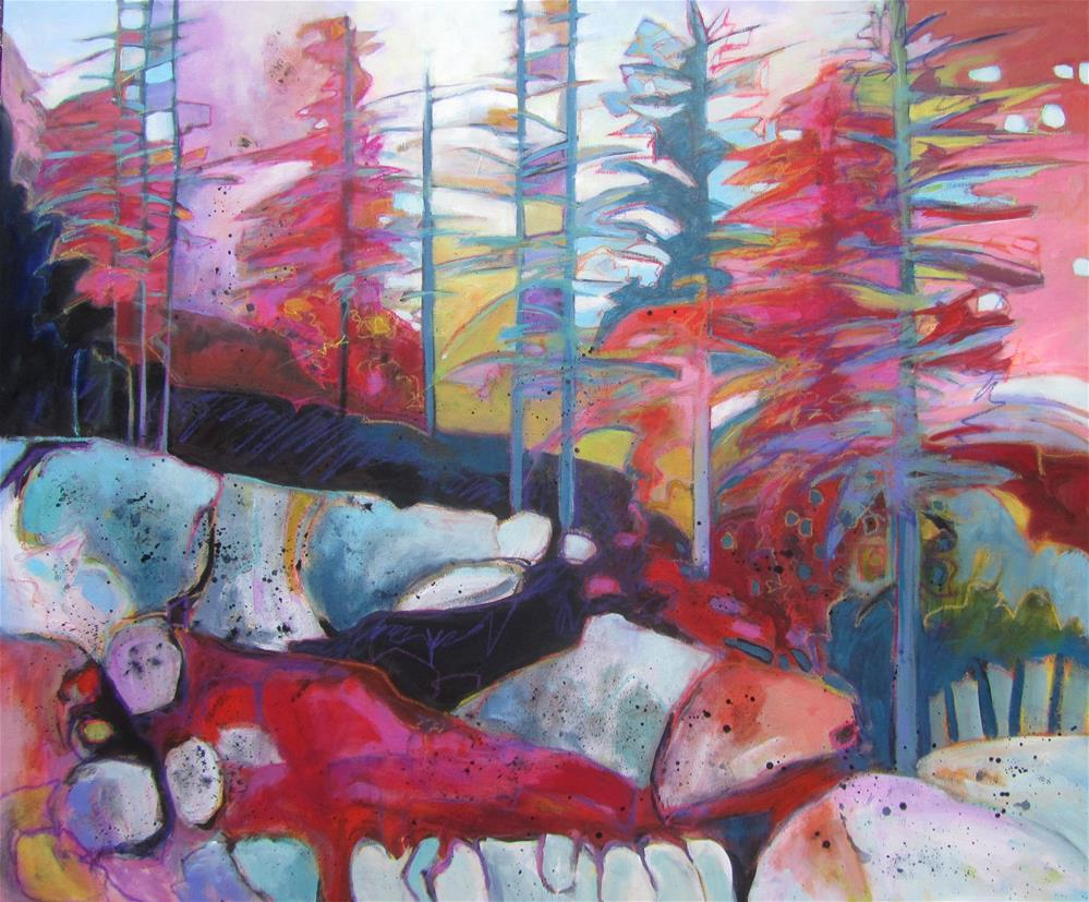"""Northern Escape Abstract"" original fine art by Patricia MacDonald"