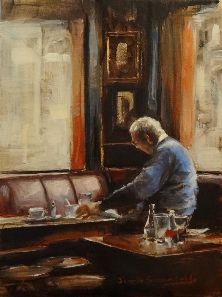 """Lunch at the Pub"" original fine art by Jonelle Summerfield"