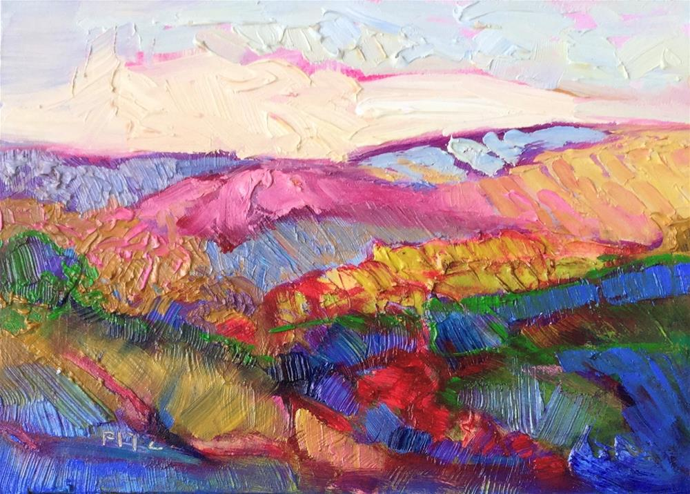 """Impasto Landscape 74"" original fine art by Charlotte Fitzgerald"