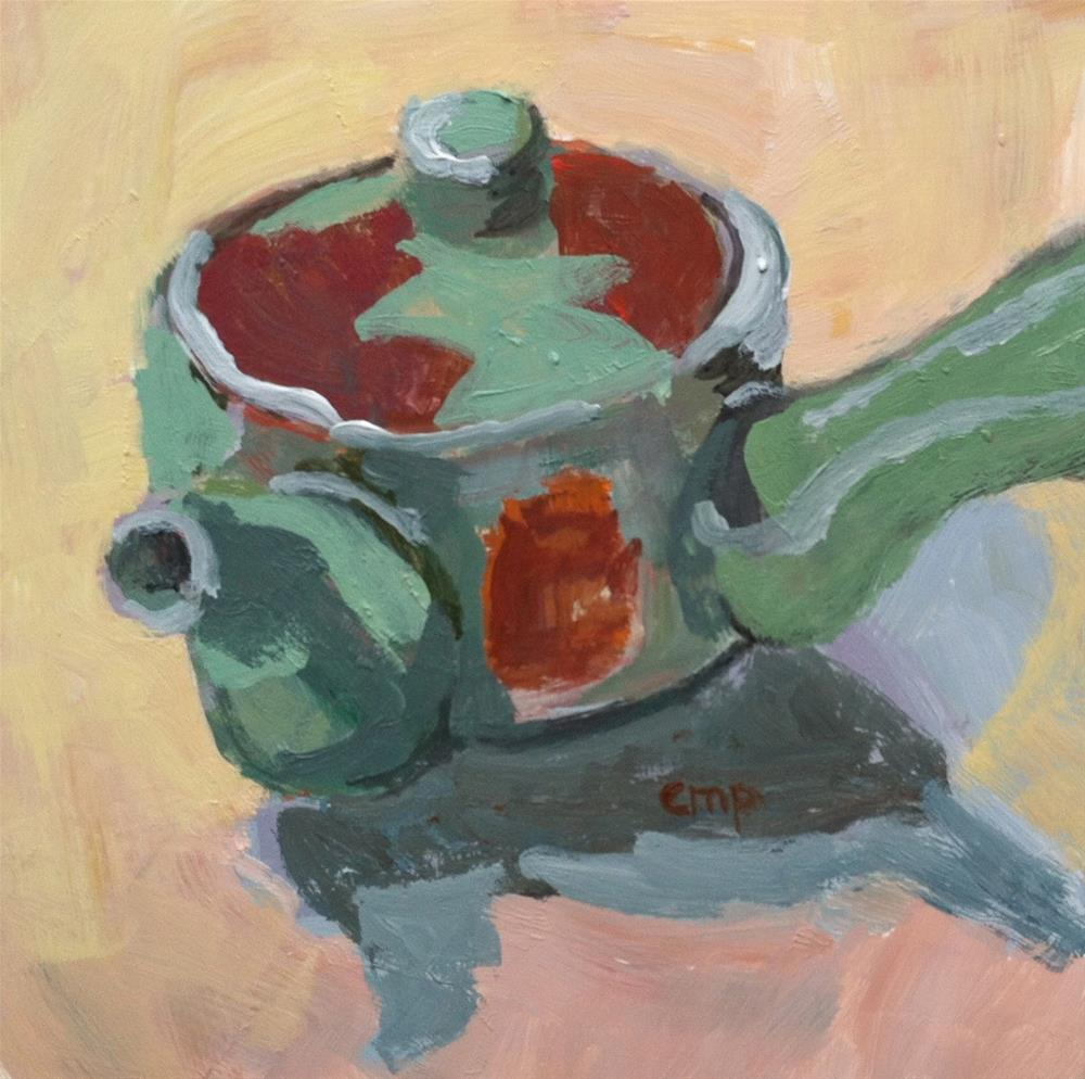 """Japanese teapot"" original fine art by Christine Parker"