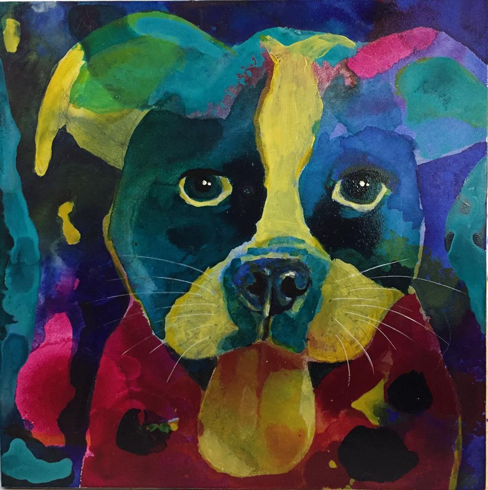 """#78 Max"" original fine art by Silke Powers"