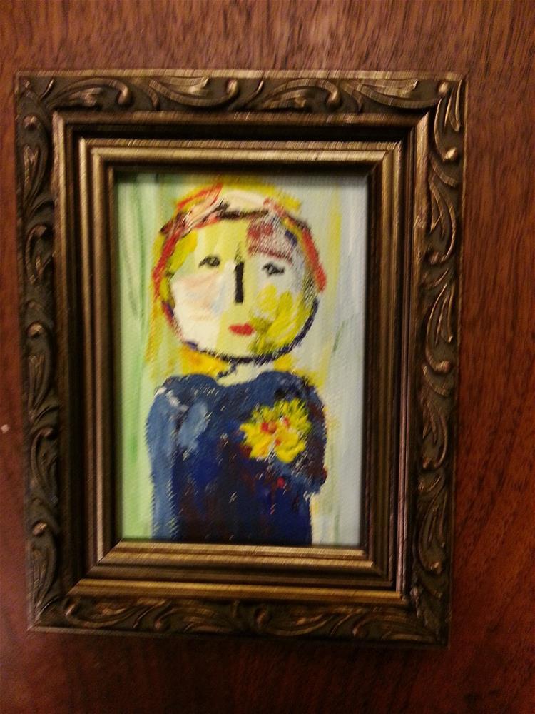 """Mini Marcie's Sister"" original fine art by Jo Allebach"