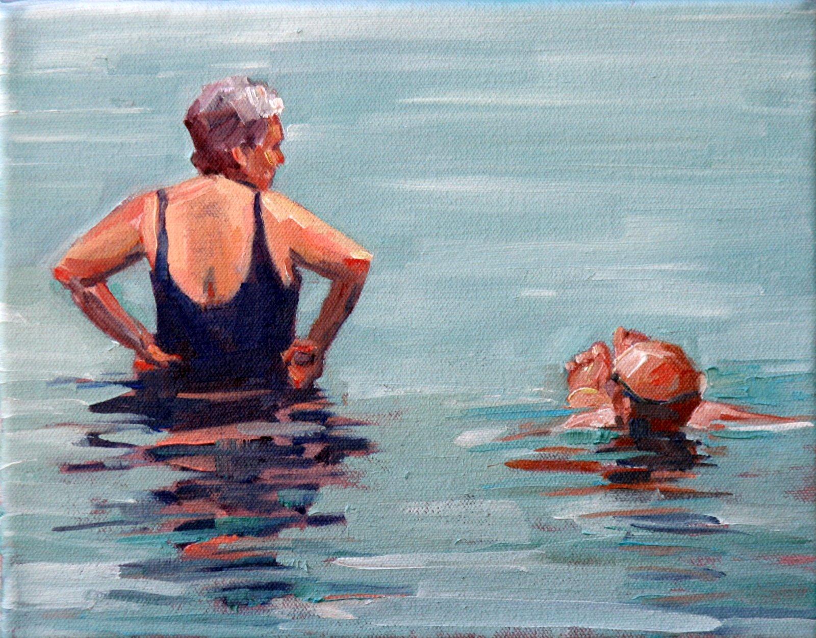 """dorchester bay"" original fine art by Carol Carmichael"