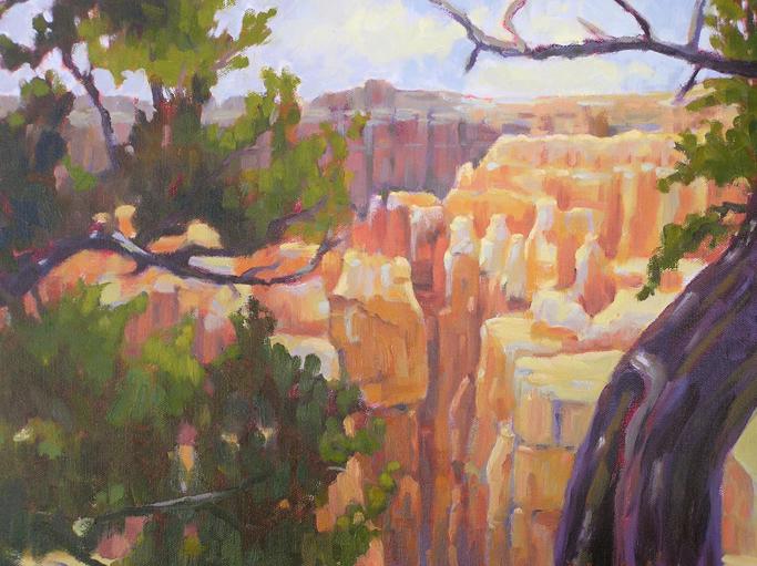 """A Peak at Bryce Canyon"" original fine art by Deborah Newman"