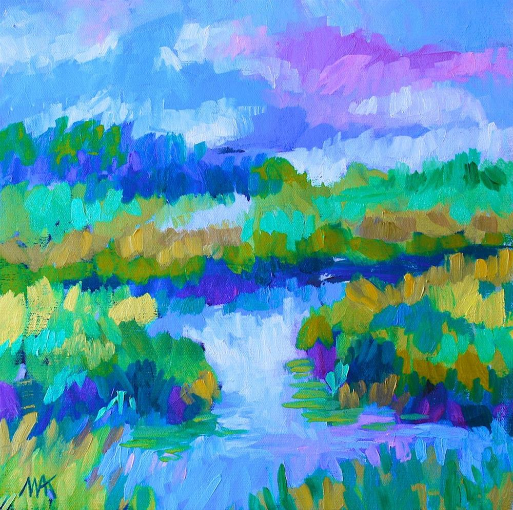 """""""Marsh Colors"""" original fine art by Mary Anne Cary"""