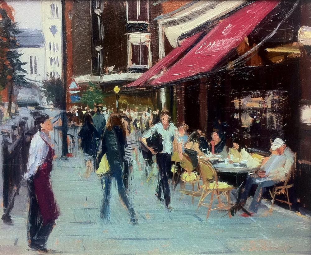 """Colbert, Sloane Square, On a Grey Day"" original fine art by Adebanji Alade"