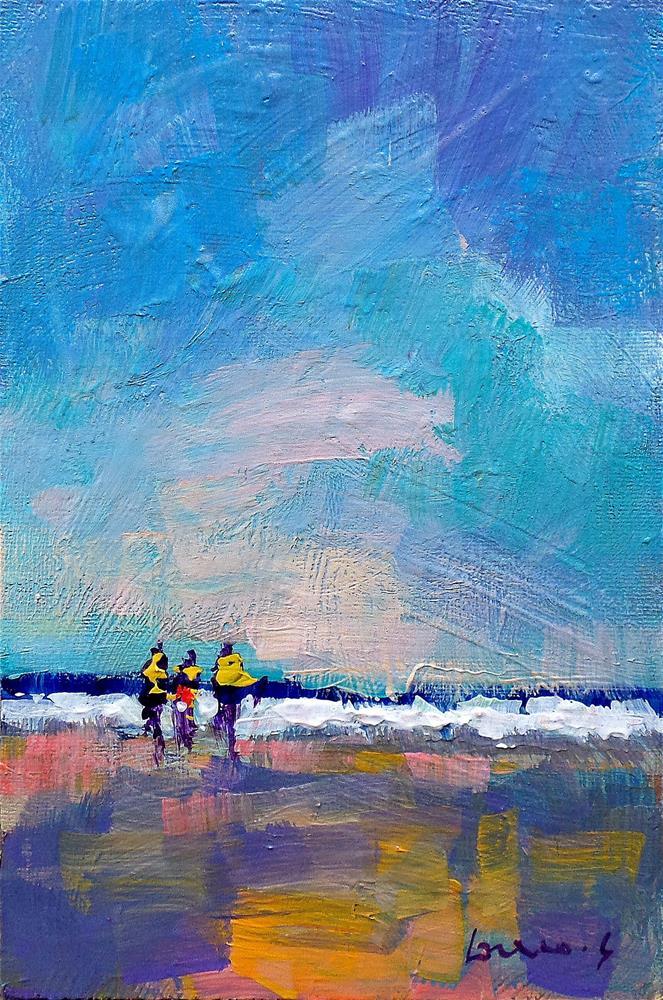 """on the beach 3"" original fine art by salvatore greco"