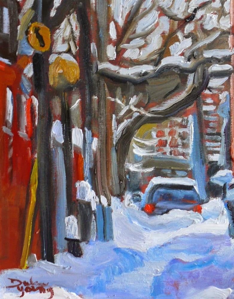 """""""784 Montreal Winter Le Plateau Mont-Royal"""" original fine art by Darlene Young"""