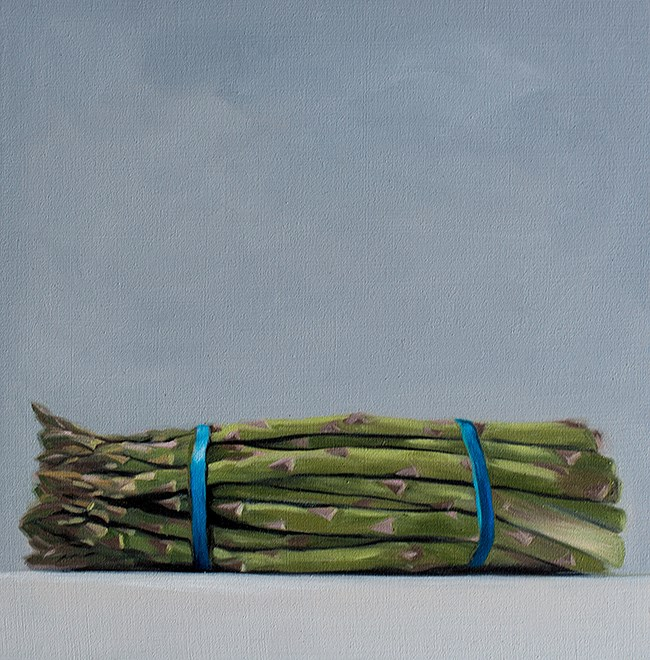 """Asparagus Bunch"" original fine art by Lauren Pretorius"