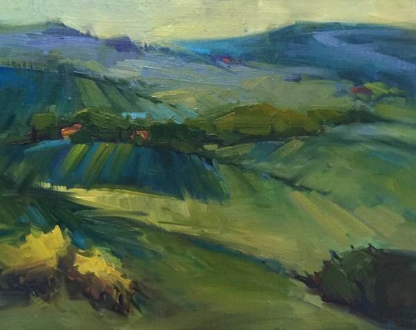 """""""Il Poggio Dreamscape"""" original fine art by Patti McNutt"""