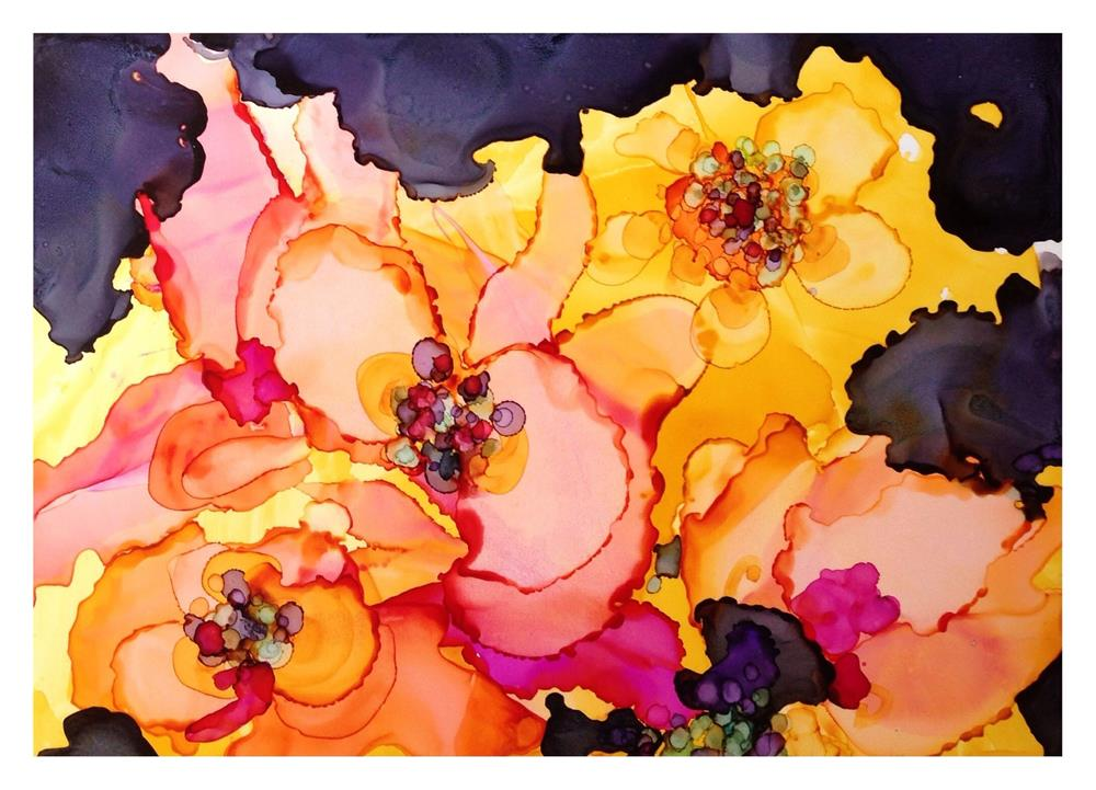 """Blush Posies"" original fine art by Kelly Alge"