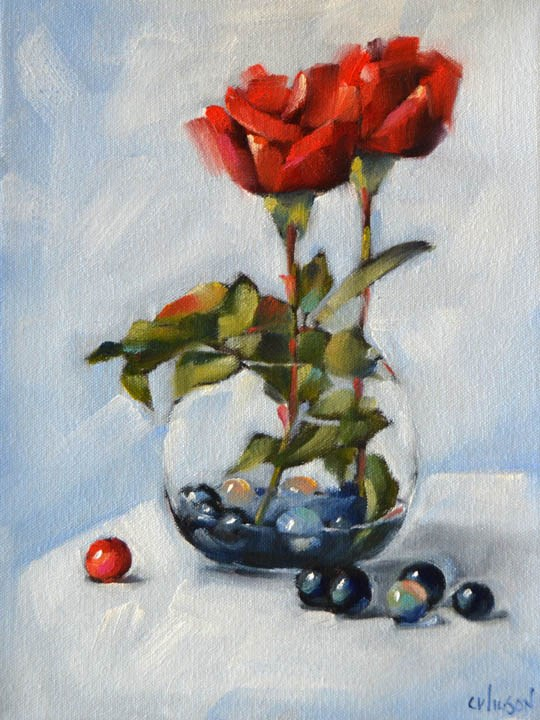 """Little Round Vase"" original fine art by Cheryl Wilson"