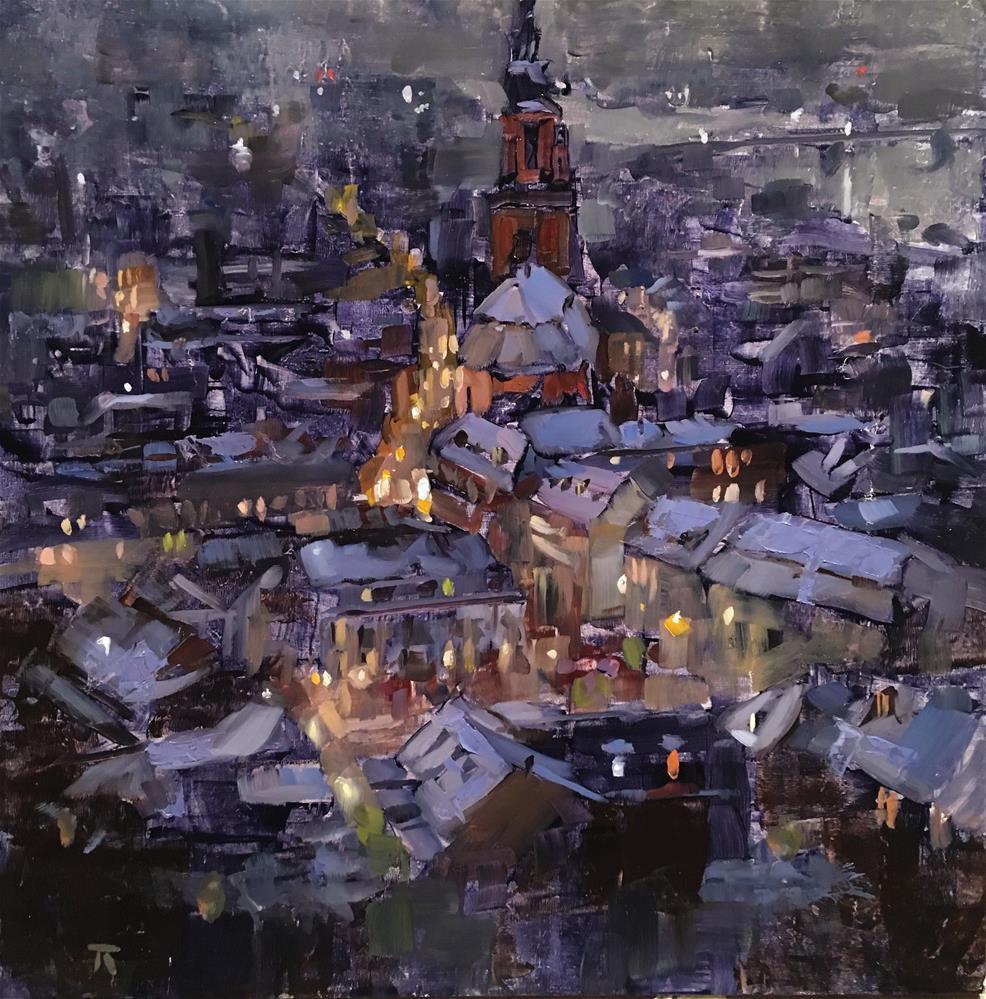 """Wintersemester"" original fine art by Thomas Ruckstuhl"
