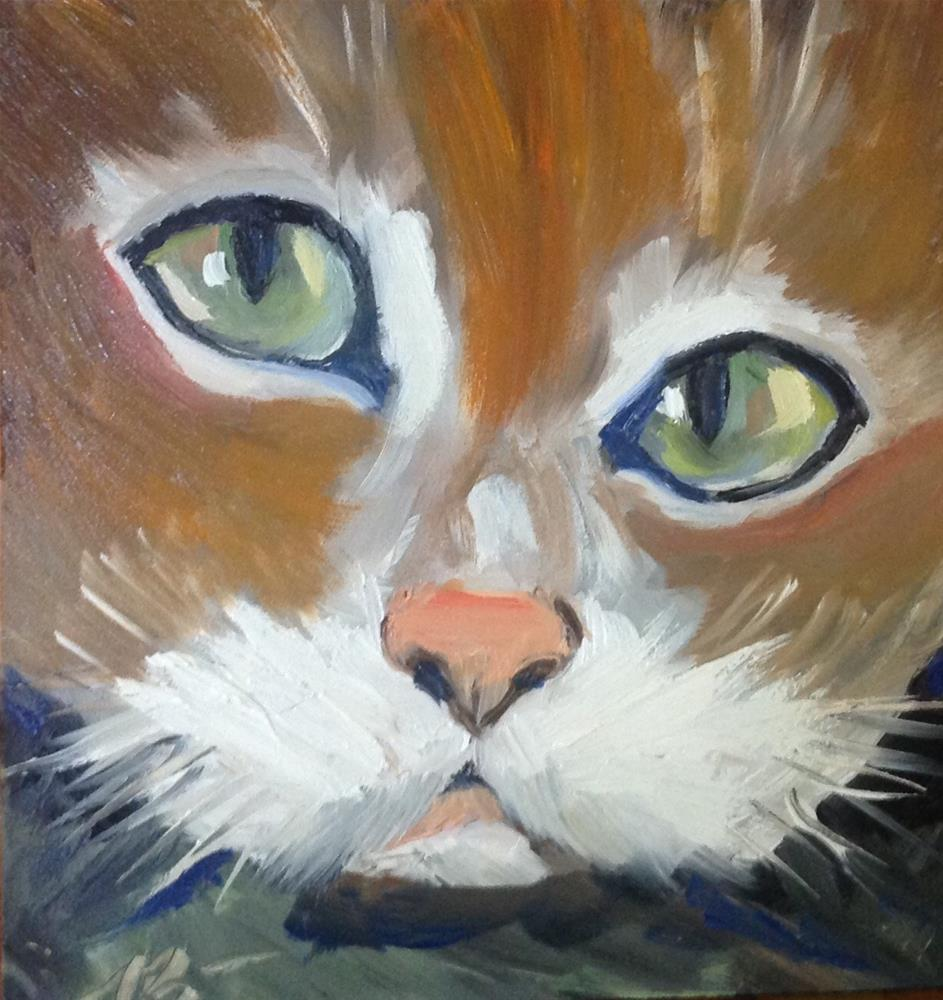 """Here Kitty...Kitty"" original fine art by Annette Balesteri"