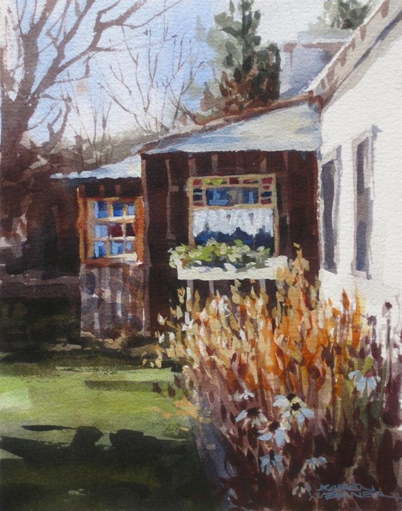 """""""Windows, Idaho City"""" original fine art by Karen Werner"""