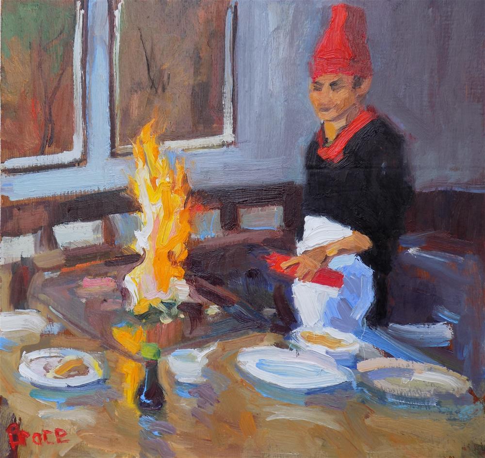 """""""Sushi"""" original fine art by Rita Brace"""
