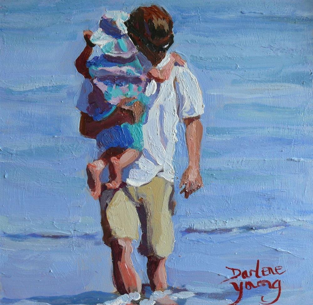 """855 Safe, oil on board 6x6"" original fine art by Darlene Young"