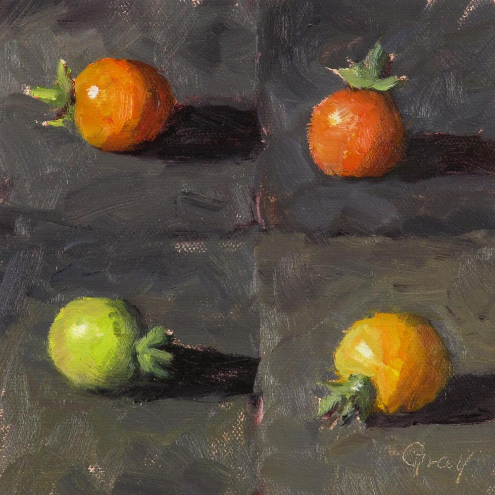 """Many Mini Tomatoes"" original fine art by Naomi Gray"