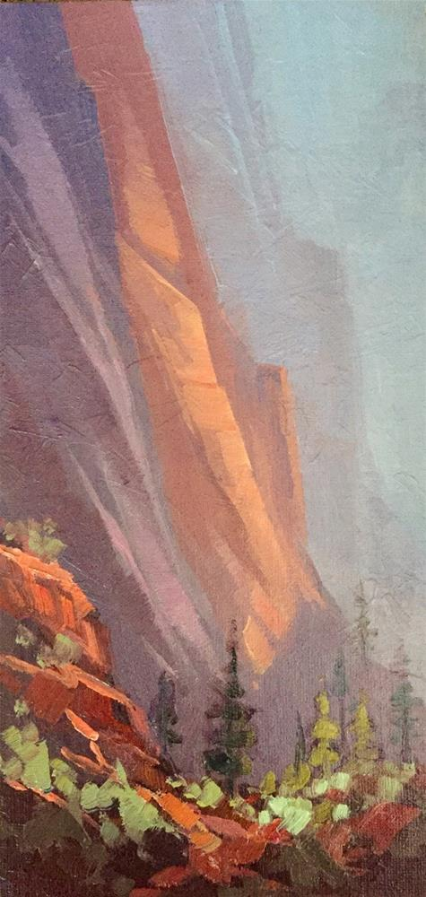 """In the Canyon - Zion"" original fine art by Mary Jabens"