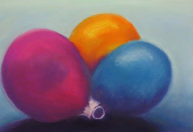 """""""Holiday Baubles"""" original fine art by Sharon Lewis"""