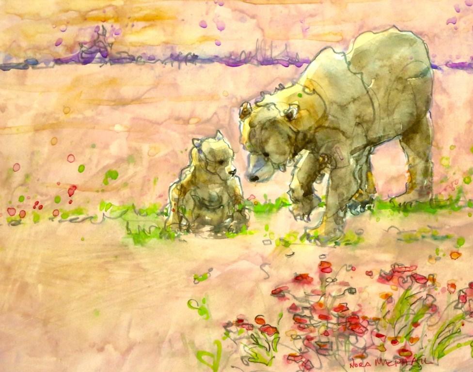 """bearly"" original fine art by Nora MacPhail"
