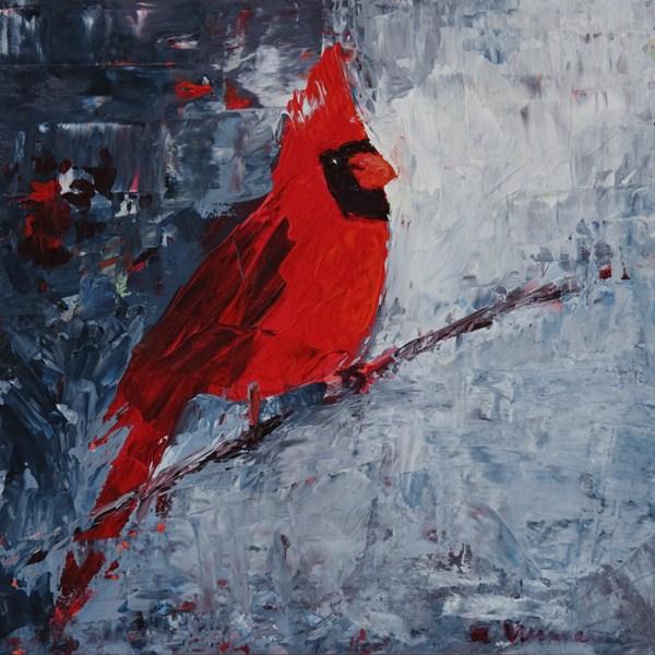 """""""Cardinal"""" original fine art by Anna Vreman"""