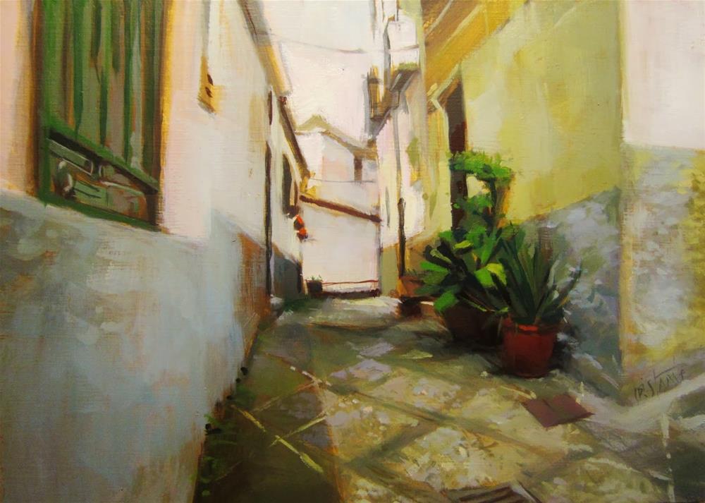 """Calle del Albaicin"" original fine art by Víctor Tristante"