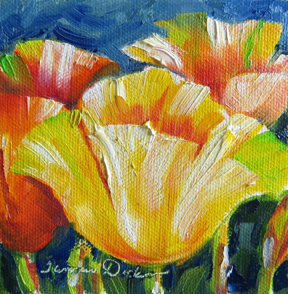 """""""Tropical Tulips"""" original fine art by Tammie Dickerson"""