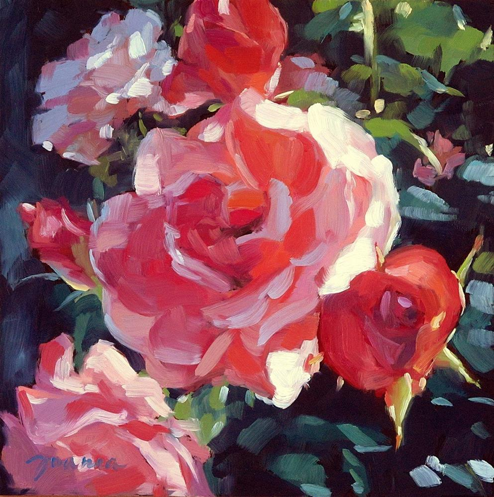 """Rose Bush"" original fine art by Joanna Bingham"