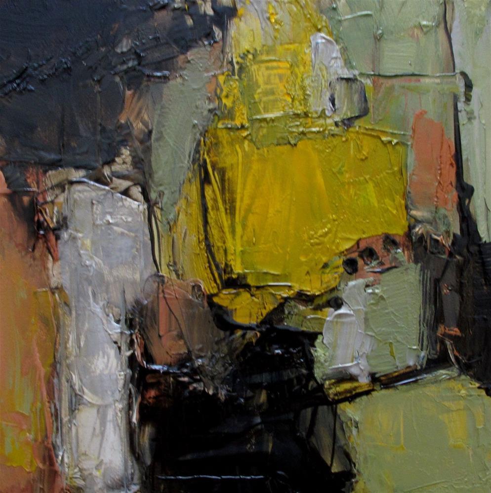 """OSCAR NOMINATED Original Abstract 4X4 Painting OIL"" original fine art by Colette Davis"