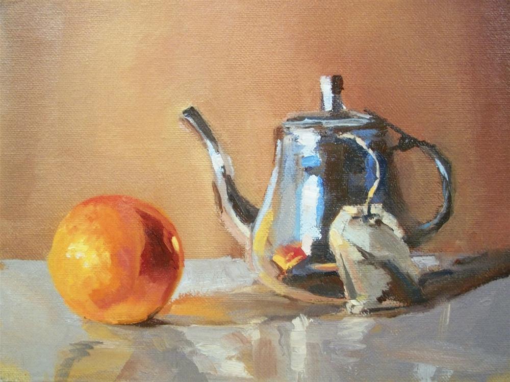 """"""" ORANGE TEA """" original fine art by Doug Carter"""