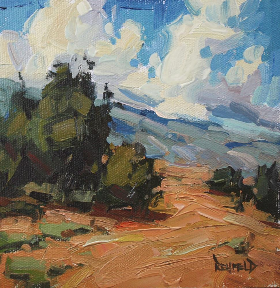 """Colors of a New Mexico Landscape"" original fine art by Cathleen Rehfeld"